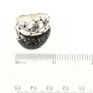 John Hardy sterling silver black sapphire ring